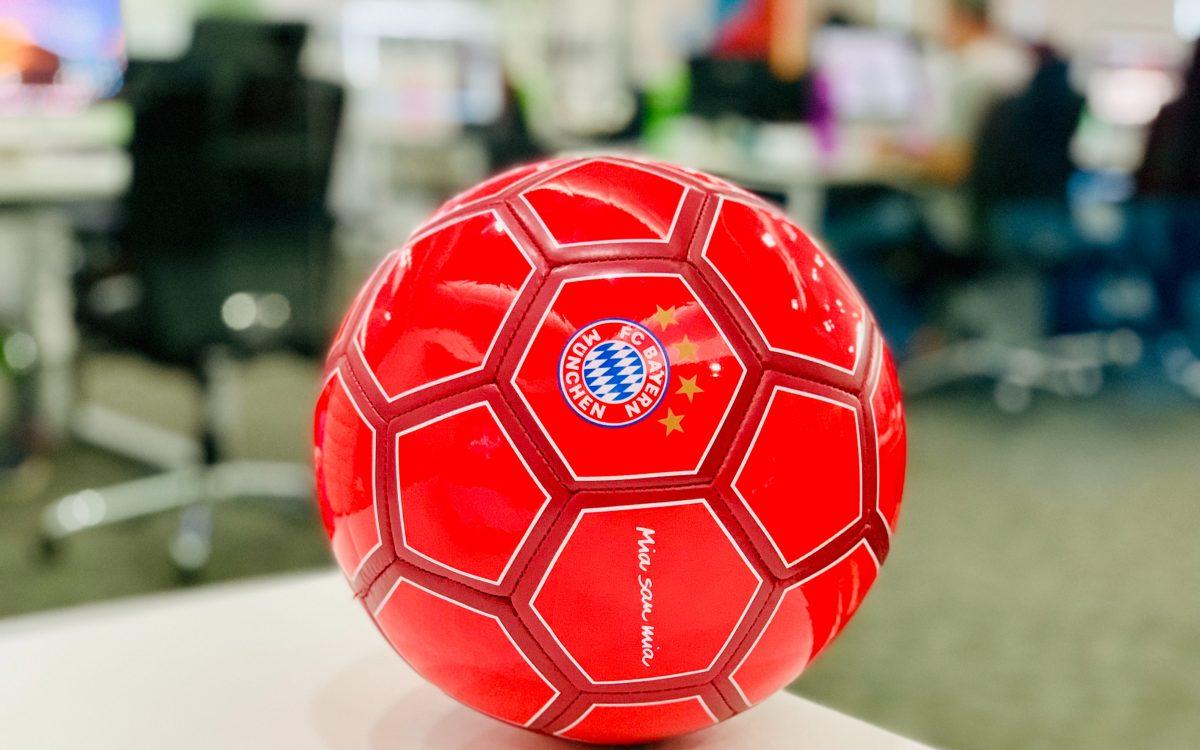 A close up of a football ball