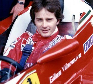 Gilles Villeneuve et al. sitting on a motorcycle